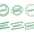 Ready stamps — Vector de stock #25990097