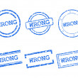 Wrong stamps — Image vectorielle