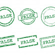 False stamps — Stock Vector