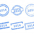 2014 stamps — Stock Vector