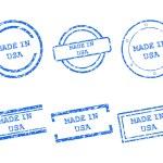 faite en timbres usa — Vecteur