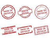 Hecho en sellos de Gran Bretaña — Vector de stock
