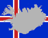 Map and flag of Iceland — Stock Vector