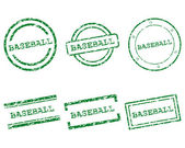 Baseball stamps — Stock Vector
