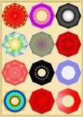 Motley octahedron. — Stock Vector