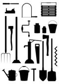Tools and appliances farmer. — Stock Vector