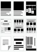Forms with text. — Wektor stockowy