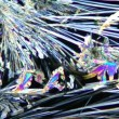 Stock Video: Crystalls of vitamin B under microscope