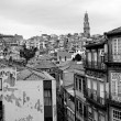 Portugal. Porto city in black and white — Stock Photo