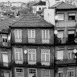 Portugal. Porto city in black and white — Stock Photo #27606735