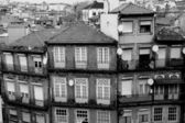 Portugal. Porto city in black and white — Stock Photo