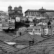 Stock Photo: Portugal. Porto city in black and white