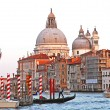 Italy. Venice. The Grand Canal and Basilica Santa Maria della Sa — Foto de Stock