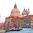 Italy. Venice. The Grand Canal and Basilica Santa Maria della Sa — Stock Photo