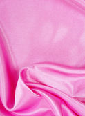 Smooth elegant pink silk as background — Stock Photo