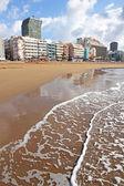 Praia de las canteras, no inverno — Foto Stock
