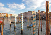 Italy. Venice city. Beautiful view of Grand canal with venetian gondolas — Стоковое фото