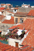 Italy. Sicily island . Cefalu. Roofs — Stock Photo