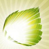 Techno-leaf retro — Stock Vector