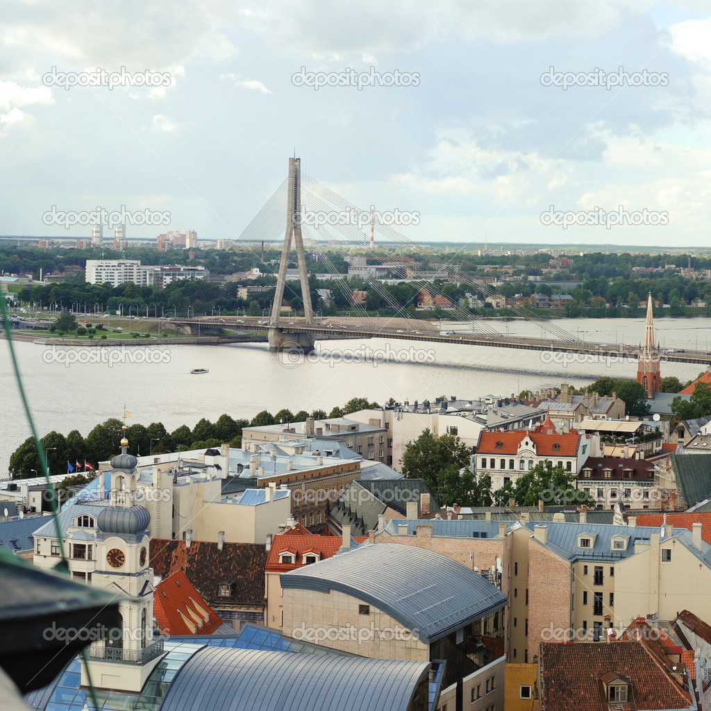 View of the capital of Latvia Riga a bird's eye — Stock Photo #13842088
