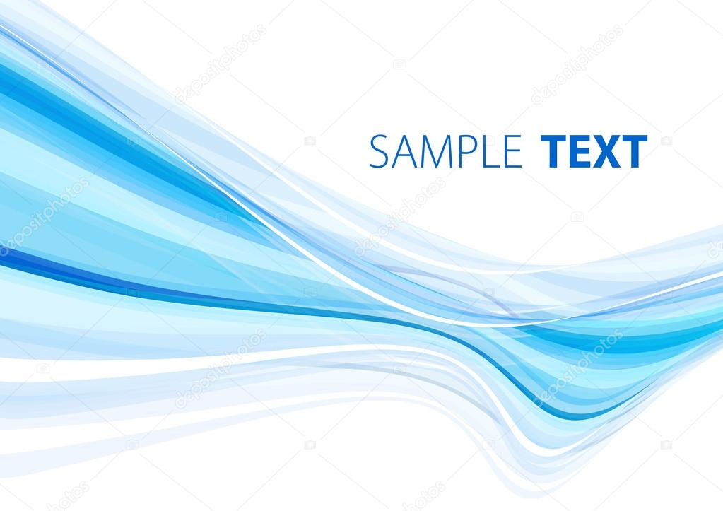 Background with abstract blue striped shape. Vector — Stock Vector #13919926