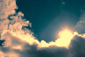 Shining sun — Stock Photo