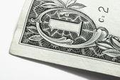 Angolo della banconota da un dollaro — Foto Stock