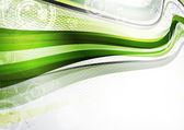 志愿者协会绿色和灰色的磁带 — 图库矢量图片
