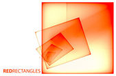 Red transparent squares — Stock Photo