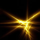 Gold sparkle fractal — Stock Photo