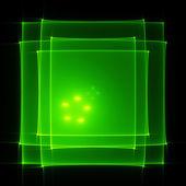 Green translucent screen — Stock Photo