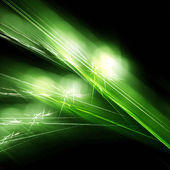 Green light fractal — Stock Photo