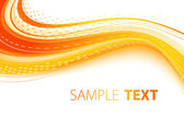 Orange wave — Vector de stock