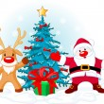 Santa Claus and Rudolph — Stock Vector #1123673
