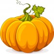 Autumn Pumpkin — Stock Vector