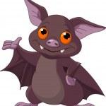 Halloween bat presenting — Stock Vector