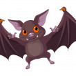 Halloween bat flying — Stock Vector