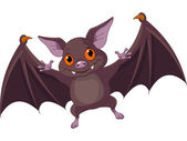 Halloween bat flying — Stock Vector
