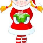 Christmas girl — 图库矢量图片 #1329797