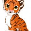 Cute tiger cub — Stock Vector #13240190