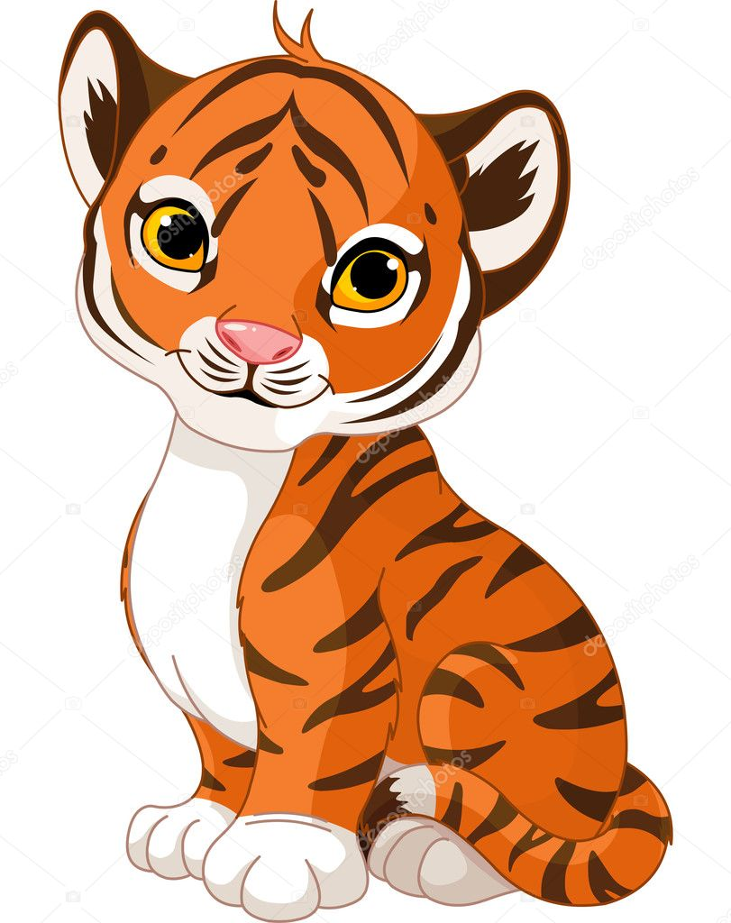 Illustration of cute little tiger — Stock Vector #13240190