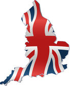UK Map with British Flag — Stock Vector
