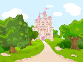 Castle on hill — Stock Vector