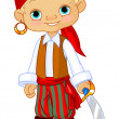 Stock Vector: Pirate Kid