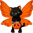 Royalty-Free Stock Vector Image: Cute Halloween cat