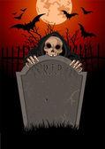 Halloween Grim Reaperanger — Stock Vector