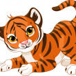 Playful tiger cub — Stock Vector