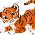 Playful tiger cub — Stock Vector