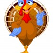 Cartoon turkey — Stock Vector #13715336