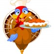 Turkey and Pie — Vector de stock #13893969